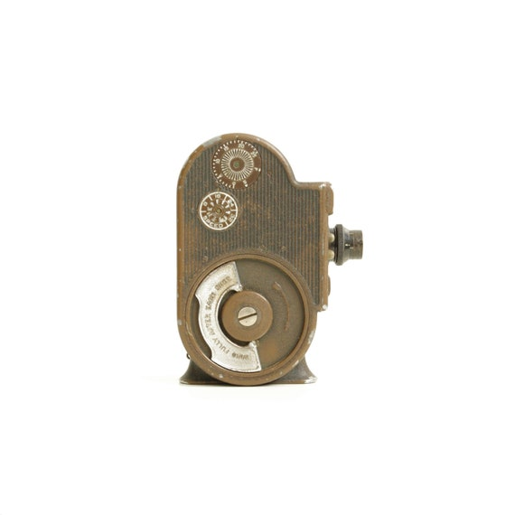 Bell and Howell Filmo Double Run Eight 8mm Movie Camera - 1930's - Cinema - Home Decor - Filmmaking