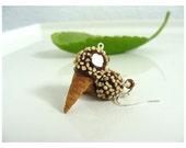 Nut Sundae Drumstick Ice Cream Earrings