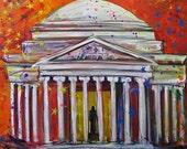 Jefferson Sparkles- original mixed media on canvas painting,36x42