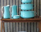 Vintage Dansk Kobenstyle Enamel Cookware / Dansk Set / Mid Century Modern Cookware / Vintage Enamelware
