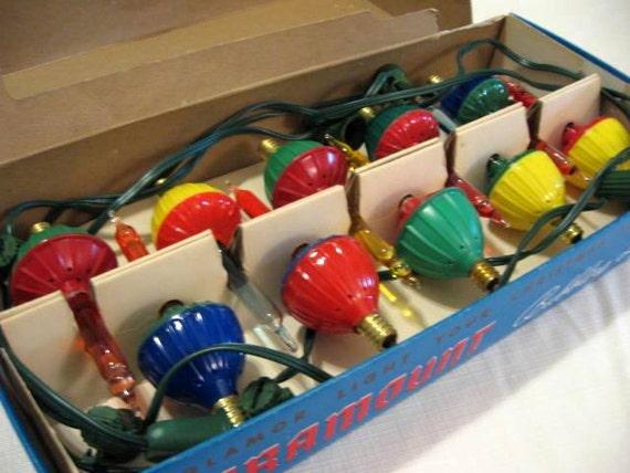 Vintage 60s Christmas Bubbling Lights - Full set plus 3 spares