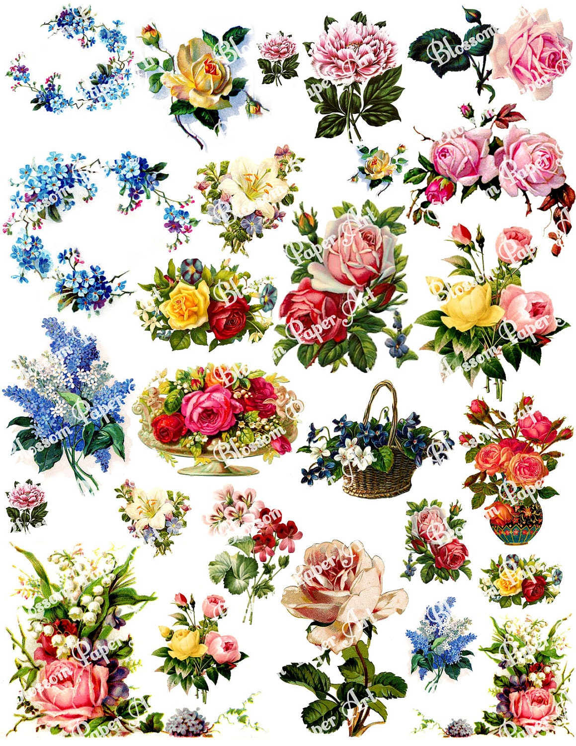 It is an image of Universal Free Floral Printables