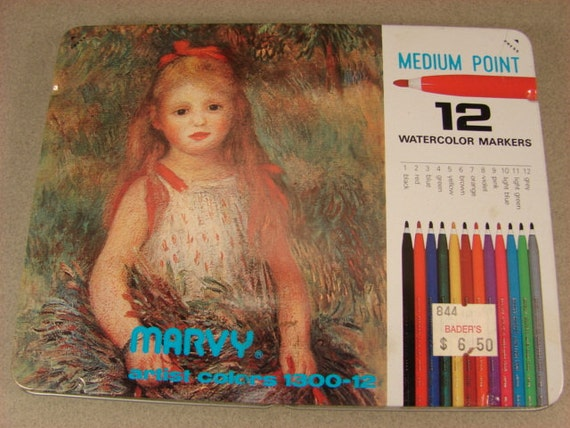 Marvy Artists Watercolor Markers Made In Japan Art Supply