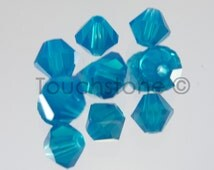 4mm Caribbean Blue Opal Swarovski Crystal Bicone Beads 72 Beads #45-1201