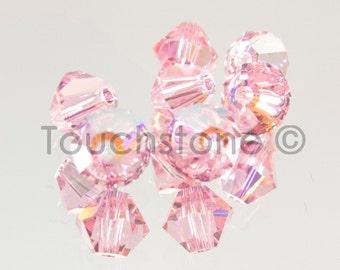 4mm Light Rose AB Swarovski Crystal Bicone Beads 72 Beads #45-1146