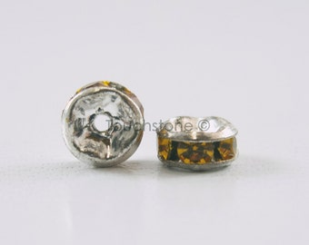5mm Topaz Crystal Rondelle Spacer Beads #-
