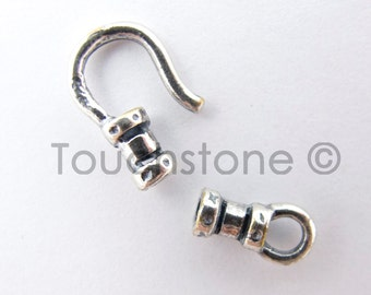 Hook & Eye Clasp Closure 1.5mm Silver Plated