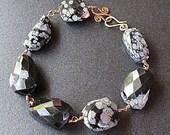 Snowflake obsidian Bracelet 10