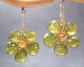 Flowers of idocrase earrings Victorian 195