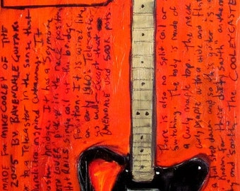 Drive By Truckers Guitar Poster. Mike Cooley Baxendale Custom electric guitar art print