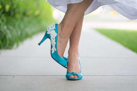 Turquoise Wedding Heels: HELP! Trying To Find Teal/turquoise/aqua Colored Wedding