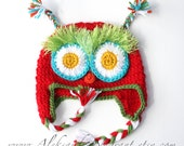 CATERPILLAR BABY HAT   - wool/ acrylic - photo prop - Made To Order