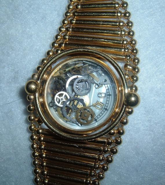 Recycled Watch Parts Bracelet Unique 3D Design