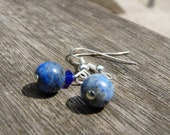 Recycled Blue Earth Earrings