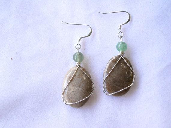 Polished Petoskey Stone Earrings