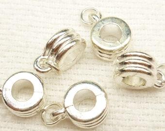 Silver European Style Slider Bails for Pendant (10)