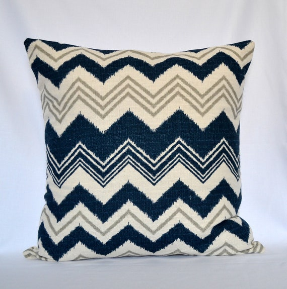 Decorative Pillows Navy Blue : Pillows Blue navy Decorative pillow Designer by ModernTouchDesigns