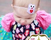 Purple Owl Baby Girl Headband TREASURY FEATURED