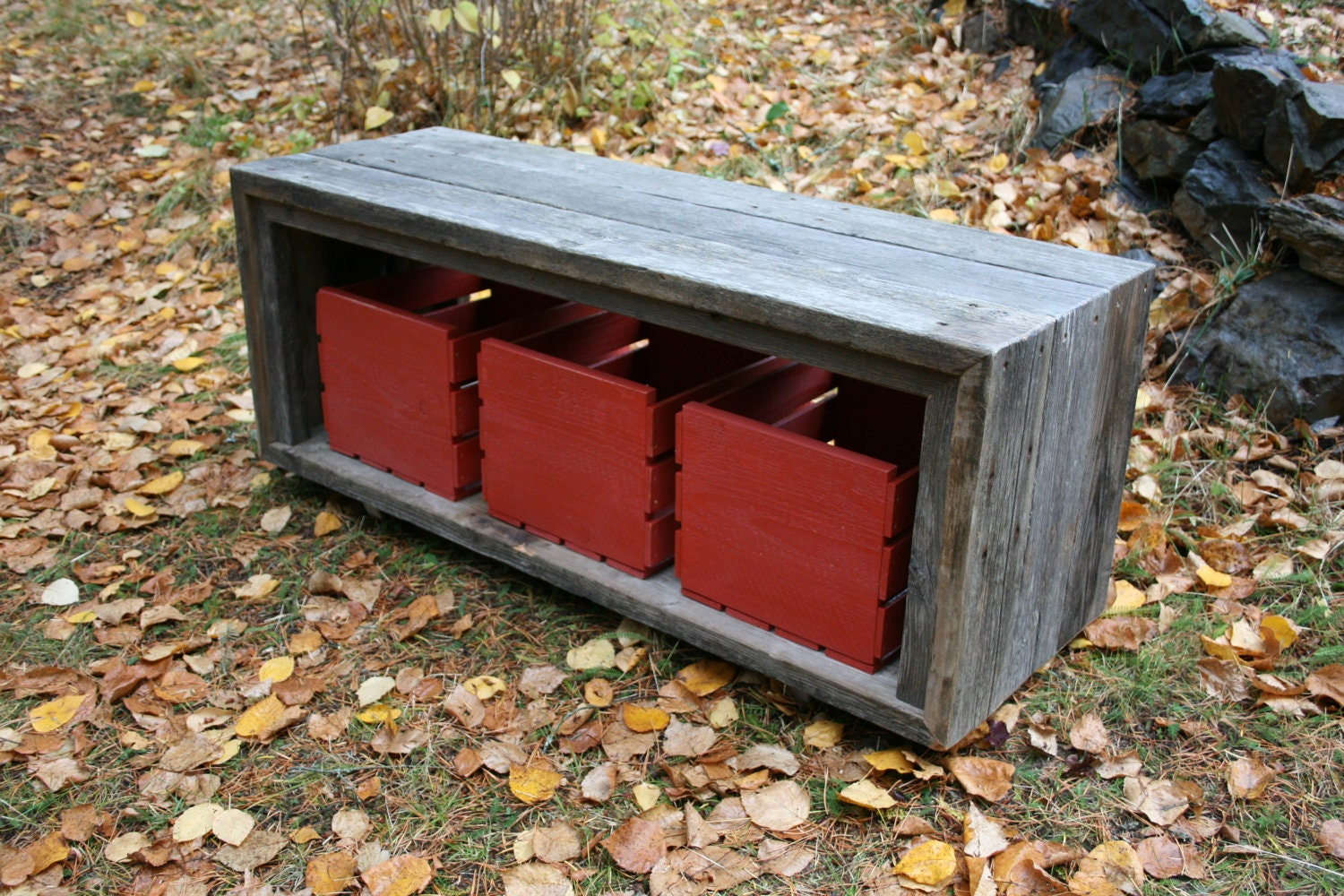 Rustic Modern Reclaimed Barnwood Entry Bench By Echopeakdesign