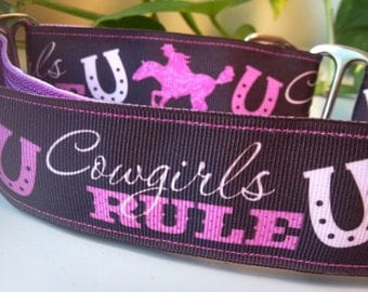 "The Lyla Cowgirl 1.5"" Martingale Collar"