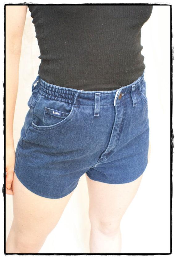 Upcycled Vintage High Waisted Denim Shorts
