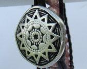 Rhodochrosite Double Chan Luu Style Leather Wrap Bracelet