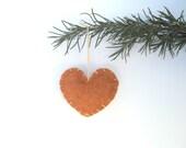 Autumn Felt Heart Ornament, Pumpkin Spice: Fall Foliage, Holiday, Festive Home Decor