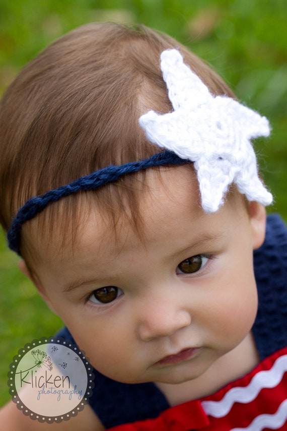 Festive Star Baby Headband, Set of 2, Infant Photo Prop