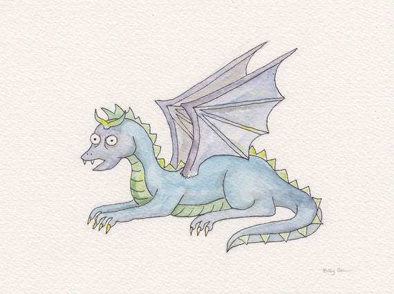 The Dragon - Original Watercolor Painting