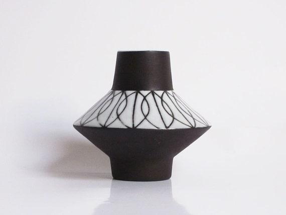 Vintage Space Age vase by Böttger Keramik Werkstatte (BKW / Wandsbek, Hamburg)