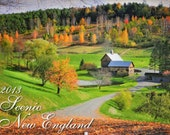 "2013 Scenic New England wall calendar standard size 11x17"" including original fine art photography by Thomas Schoeller"