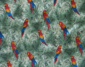 Parrot by Hoffman Cotton Print Fabric