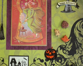 Halloween Decor: Collage Art (Casting Witch)