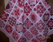 Valentine Quilt, Hearts, Flowers, Sweetheart