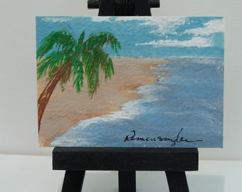Tides In -- ACEO original painting - SE team