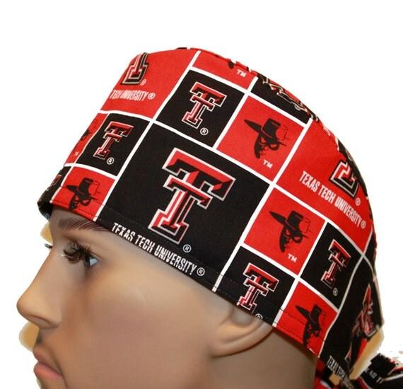 Surgical Scrub Cap - Sport Scrub Cap - University Scrub Hat - NCAA Scrub Hat - Texas Tech University