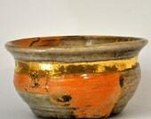 RESERVED: Shino & Gold Porcelain Bowl