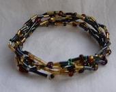 Elegant Blend 5 Strand Beaded Stretch Bracelet - Custom Made to Size