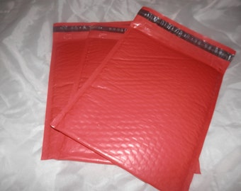 20 Strawberry Red large 8.5x12 Bubble Mailers, Size-2 Padded Self Adhesive Padded Mailer Envelopes