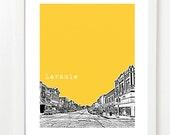 Laramie Wyoming Poster - Laramie City State Skyline Art Print  - Unique Gift