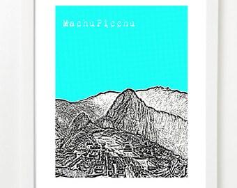 Machu Picchu Art - City Skyline Series Poster - Peru - South America Series