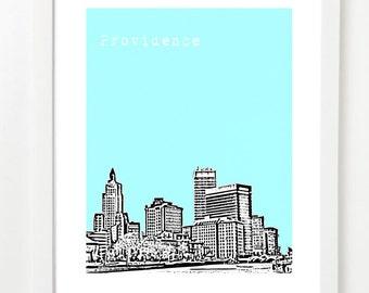 Providence Art Print - Providence Rhode Island Skyline Poster - Rhode Island Love