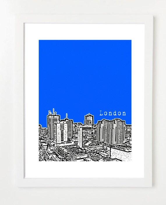 London Ontario Skyline - London Ontario Canada Poster - London Ontario Art Print