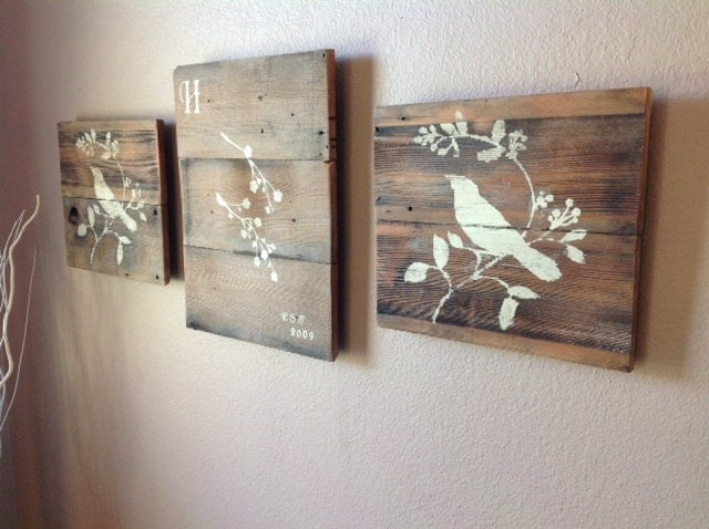 These 6 Pieces Of Colorful Furniture Are Absolute Must Haves: Reclaimed Wood Wall Art By DelHutsonDesigns On Etsy