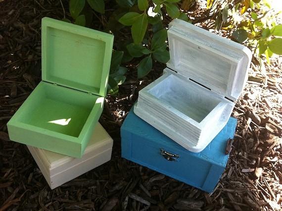 Ring Box - Favor Gift Boxes- Shabby Wedding Decor - Jewelry Box - Ring Bearer - Flower Girl