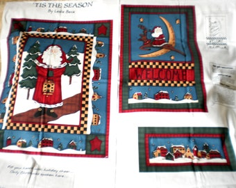 Tis The Season Christmas Panel Fabric