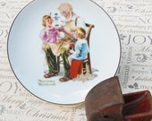 Norman Rockwell Christmas Plate - The Toymaker - Christmas, Santa, Collectable, Series, Children, Museum