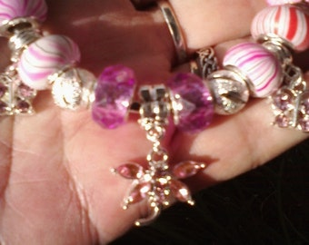 Pink Wings and Magical things, Euro style bracelet