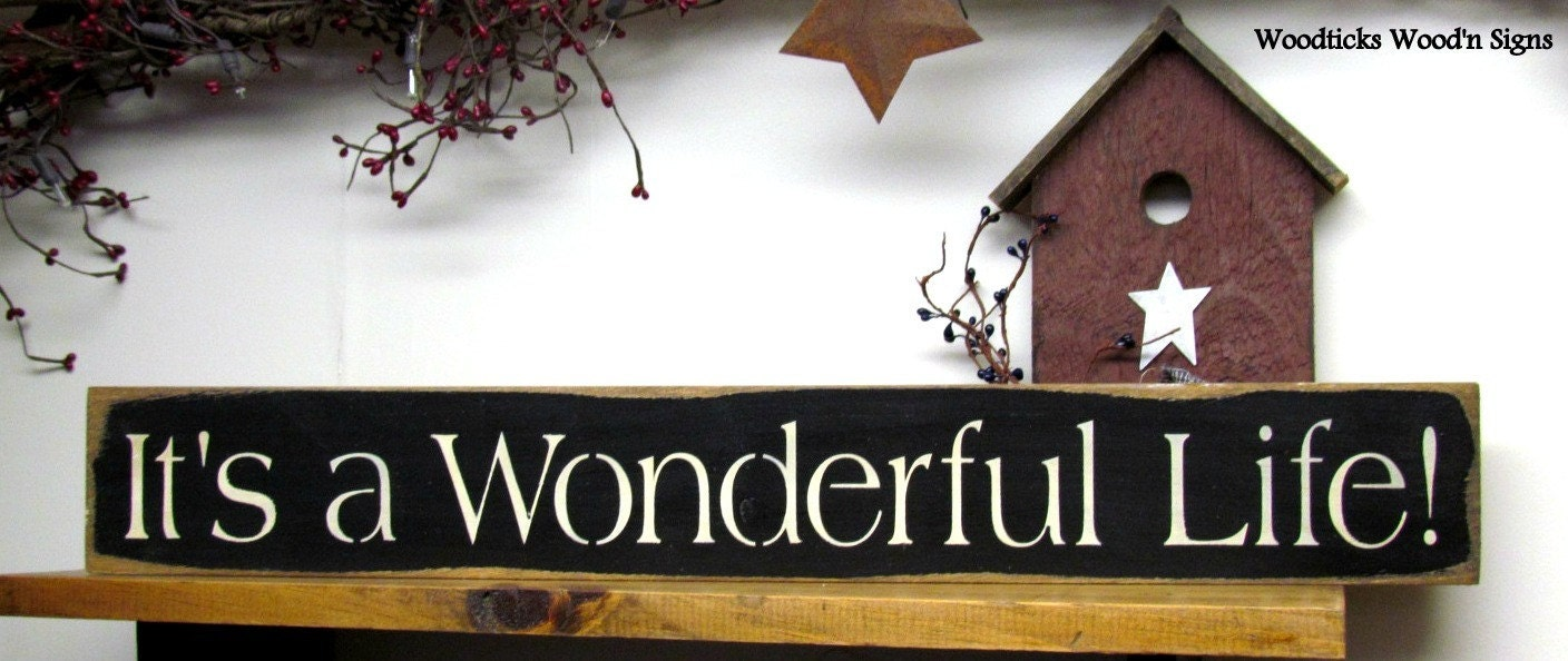 Wooden Sign It 39 S A Wonderful Life Winter Sign Christmas
