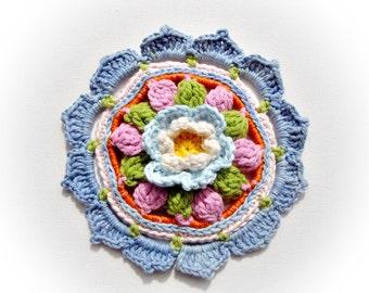 Crochet Rosette Pattern 06